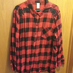 Embroidered flannel